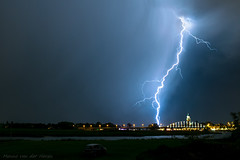 Lightning near the bridge in Deventer (mesocyclone70) Tags: lightning night river bridge storm thunderstorm severeweather stormchase