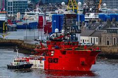 Esvagt Capella Departing Aberdeen Harbour 04/01/2020