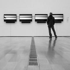 contrapposto (Jim_ATL) Tags: video art installation jayerhee tear museum bw blackandwhite atlanta