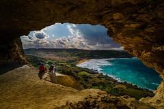 have a break (K.H.Reichert [ ... ]) Tags: ramla höhle meer felsen rocks sven calypsocave sunset cave sky sonnenaufgang sonnenuntergang clouds malta himmel sea coast gozo bucht
