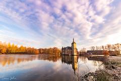 Reflection (LJ Photography Belgium) Tags: castle landscape landschap sunrise zonsopgang kasteel reflection lake belgie belgium vlaanderen flandres horst