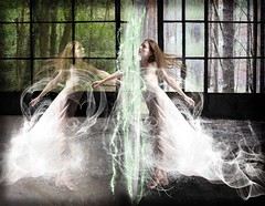 The Studio (Water to My Soul) Tags: woman girl lady dream nostalgia yesterday present today decay trees window dance flowing ethereal portal remember hair room
