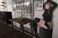 Miru Noir (Miru in SL) Tags: second life sl mesh tlc the liaison collaborative alt3 diversion poses simple reflections what next architect olive utopia shoes boots unkindness your dreams