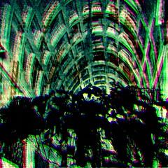 gatekeeping (fibreman) Tags: digital art manipulation composite psychedelic lofi artefacts manchester artist psp uk distorted colour ambient abstract 3d lysergic trippy druggy lsd dmt autism sensory creative abstractart digitalart green