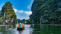 Boat tour (gilles coujan) Tags: gillescoujan vietnam sony a7iii trangan ninhbinh southeastasia asia asie boat pirogue rame rochekarstique karst