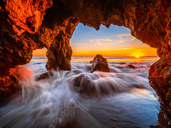 Malibu Sea Cave Sunset El Matador State Beach California Fine Art Landscape Nature Fuji GFX100 Sunset Photography! Dr. Elliot McGucken dx4/dt=ic Master Fine Art Medium Format Photographer! Venus Laowa 17mm f/4 Zero-D Lens for GFX MF Ultra Wide Angle Lens! (45SURF Hero's Odyssey Mythology Landscapes & Godde) Tags: california sunset sea art beach nature landscape state fine el malibu cave matador photography fuji photographer venus dr master medium format elliot 17mm mcgucken laowa dx4dtic gfx100 lens for angle wide mf ultra f4 gfx zerod