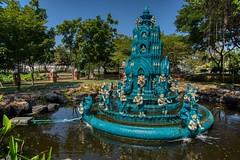 Stupa style fountain in Muang Boran (Ancient City) in Samut Phrakan, Thailand (UweBKK (α 77 on )) Tags: muang mueang boran ancient city siam open air museum garden park outdoors education recreation tourist attraction samut phrakan province bangkok thailand southeast asia sony alpha 77 slt dslr