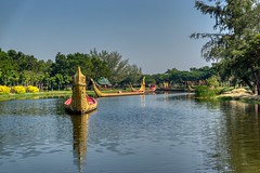 Replica of the Royal Barge procession in Muang Boran (Ancient City) in Samut Phrakan, Thailand (UweBKK (α 77 on )) Tags: muang mueang boran ancient city siam open air museum garden park outdoors education recreation tourist attraction samut phrakan province bangkok thailand southeast asia sony alpha 77 slt dslr