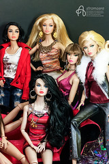 All my Poppy Parker girls (astramaore) Tags: astramaore poppyparker integritytoys dollphotography fair it airways fairest all double agents girl from integrity
