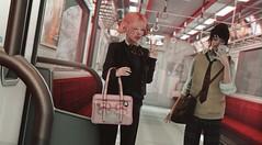 Runaway Train (Greeneyed System) Tags: japan japanese train commute school schooluniform asian asia cute spring pink maleavatar male secondlife sl rp roleplay slrp