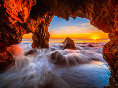 Malibu Sea Cave Sunset El Matador State Beach California Fine Art Landscape Nature Fuji GFX100 Sunset Photography! Dr. Elliot McGucken dx4/dt=ic Master Fine Art Medium Format Photographer! Venus Laowa 17mm f/4 Zero-D Lens for GFX MF Ultra Wide Angle Lens! (45SURF Hero's Odyssey Mythology Landscapes & Godde) Tags: malibu sea cave sunset el matador state beach california fine art landscape nature fuji gfx100 photography dr elliot mcgucken dx4dtic master medium format photographer venus laowa 17mm f4 zerod lens for gfx mf ultra wide angle