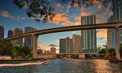 Late afternoon in the river. (Aglez the city guy ☺) Tags: downtownmiami miamiriver architecture afternoon walkingaround waterways walking urbanexploration aspectsofthecity thecity river outdoors bridge