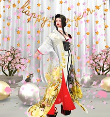 Happy New Year! (LiangScorpio) Tags: secondlife happynewyear sl kimono silverlyk celebrate screenedit photoshop
