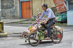 Buyer or Seller ? (Beegee49) Tags: street people tricycle man woman vegetables sony a6000 bacolod city philippines