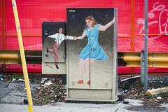 "Utility box art, ""Swing Out,"" by Karen Roberts (jer1961) Tags: toronto art publicart signalboxart torontoart torontostreetart streetart karenroberts karenrobertsartist dancers dancerpainting utilitybox utilityboxart"