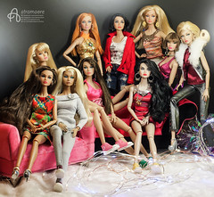 All my Poppy Parker girls (astramaore) Tags: astramaore poppyparker integritytoys dollphotography sweet confection fair wedding belle hippie dippy it airways ma petite fleur popster fairest all double agents girl from integrity