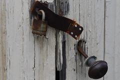 Lock the door (KsCattails) Tags: door doorknob kathrynkennedy kscattails lock sarkopartrailspark rusty broken despair