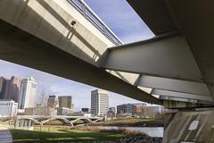 Scioto Mile_DSC9770 (GmanViz) Tags: gmanviz color sonya6000 architecture columbus ohio bridge sciotoriver