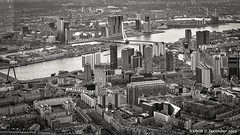 Rotterdam, Netherlands: Aerial cityscape (nabobswims) Tags: aerialphotography hdr highdynamicrange ilce6000 lightroom mirrorless nl nabob nabobswims netherlands nieuwemaas photomatix river rotterdam sel18105g sonya6000 zuidholland