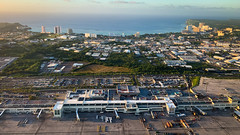 Flying out of the Guam Airport