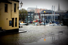 Rainy Afternoon (JULIANA LEFTEROVA) Tags: rainyweather pier boats yachts masts streetphotography urbanexploring urbanscape reflections travel