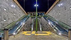 Rotterdam, Netherlands: Blijdorp metro station, Line E (nabobswims) Tags: blijdorp escalator hdr highdynamicrange ilce6000 lightroom metro mirrorless nl nabob nabobswims netherlands photomatix rapidtransit rotterdam sel1018 sonya6000 station subway ubahn zuidholland night nightfoto