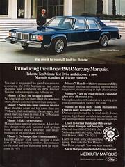 1979 Mercury Grand Marquis Sedan Ford USA Original Magazine Advertisement (Darren Marlow) Tags: 1 7 9 19 79 1979 f ford m mercury marquis g grand s sedan c car cool collectible collectors classic a automobile v vehicle u us usa united states american america 70s