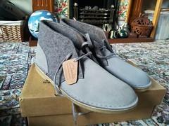 Desert boots (daveandlyn1) Tags: newboots clarksoriginals desertboots footwear boots originals christmaspresent pralx1 p8lite2017 imagetakenwithahuaweip8 huawei smartphone psdigitalcamera cameraphone