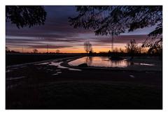 Morgen (Kent 40D) Tags: morgen solopgang skyer farve vand vej kontrast is koldt himmel