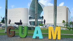 Another GUAM sign in front the Guam Museum
