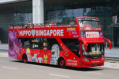 PC3106D, Raffles Boulevard, Singapore, October 11th 2018 (Southsea_Matt) Tags: pc3106d 60 duckhippo rafflesboulevard singapore october 2018 autumn canon 80d sigma 1850mm bus omnibus transport vehicle sightseeing man 18240 opentop