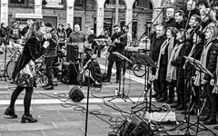 Street choir (Fabio Pratali LI) Tags: singers musician bw people livorno streetchoir