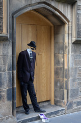 Incognito (Valantis Antoniades) Tags: incognito invinsible man street photography performer people scotland edinburgh uk