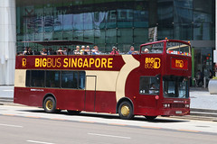 PA5418B, Raffles Boulevard, Singapore, October 11th 2018 (Southsea_Matt) Tags: pa5418b rafflesboulevard singapore october 2018 autumn canon 80d sigma 1850mm bus omnibus transport vehicle scania l94ub sightseeing opentop bigbistours
