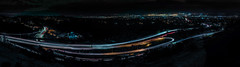 the hiller expanse (pbo31) Tags: hillerhighlands oakland california eastbay alamedacounty over night black january 2020 boury pbo31 color nikon d810 city urban hills lightstream highway roadway traffic motion sanfrancisco skyline panorama large stitched panoramic baybridge 80 easternspan 13 24 overpass