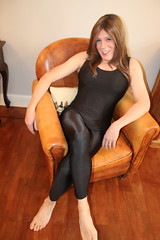 Decided to relax instead (suedel36) Tags: lycra leotard crossdresser cd transvestite tgirl tgurl gurl