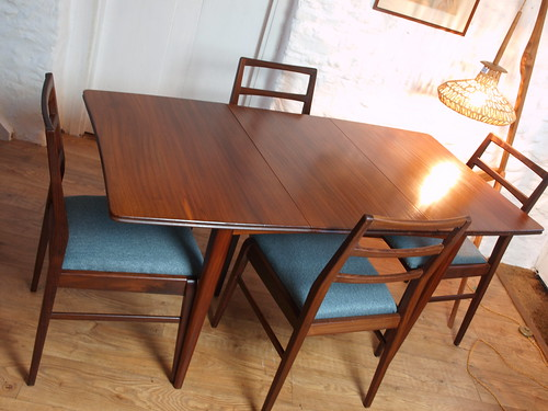 """Richard Hornby for Fyne Layde solid Afrormosia extending dining table & chairs. • <a style=""""font-size:0.8em;"""" href=""""http://www.flickr.com/photos/69514980@N03/49333001702/"""" target=""""_blank"""">View on Flickr</a>"""