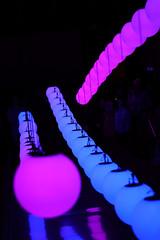 Flow (6079 Jones, P) Tags: colours blue purple pink art waddesdonmanor lightinmotion light lowlight glow balls sphere orb installation display statelyhome stables exhibition manorhouse rothschild aylesbury buckinghamshire dark hanging canoneos77d yongnuoyn50mmf18 niftyfifty primelens christmas nationaltrust img0551