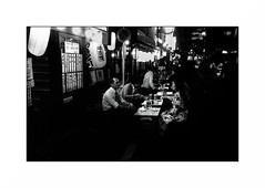 Tokyo - Ginza (Punkrocker*) Tags: leica m7 summicron asph 35mm 352 film kodak trix pushed 1600 nb bnw bwfp monochrome street city people night tokyo ginza japan japon nihon nippon travel