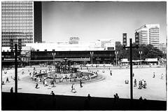 Berlin Alexanderplatz (elisachris) Tags: berlin alexanderplatz mitte street streetphotography schwarzweis blackandwhite architektur archicture cellphone smartphone mobile licht schatten light shadow