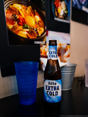 Hite Extra Cold beer (frodnesor) Tags: koreankitchen northmiamibeach koreanfood