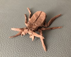 Tiger Beetle (DirgeOfDreams) Tags: origami tiger beetle carabidae paper art paperfolding papercraft insect bug