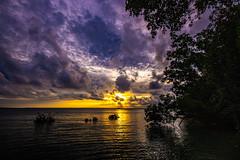Sunset (Markus Branse) Tags: sunset lameroobeachfloodet darwin meer see sea lameroo beach strand flut high tide überflutung überflutet himmel sky clouds cloudy wetter weer weather meteo australien ausssie australie australia austral oz ocean lagune mangrove mangroven wasser baum sonnenuntergang boot wolke ozean landschaft