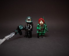 Let's kick some ice. (ⒽⓄⓅⒺ) Tags: lego dc batman arkham poison ivy victor freeze pamela