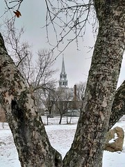 St. Joseph's church.... (angelinas) Tags: church steeple trees winter snow outdoors through scenic mood afternoon neig montreal canada nature