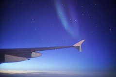 Aurora borealis from an Airbus A380 (PeterThoeny) Tags: fortsmith northwestterritories canada airplane lufthansa airbus a380 airbusa380 a380800 light aurora auroraborealis polarlights northernlights night star sony sonya7 a7 a7ii a7mii alpha7mii ilce7m2 fullframe vintagelens dreamlens canon50mmf095 canon 1xp raw photomatix hdr qualityhdr qualityhdrphotography fav100