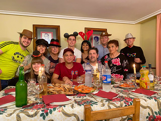Family christmas dinner Logroño La Rioja, Spain 2019
