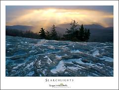 Searchlights (DKNC) Tags: beaconheights blueridgeparkway northcarolina nc sunrise winter ice snow daleking