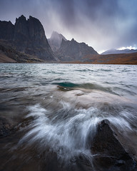 Wave Action (tms\) Tags: yukon tombstone lake mountains waves storm dramatic