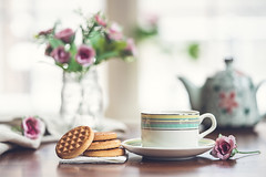 Peaceful mind, grateful heart (Chapter2 Studio) Tags: sonya7ii stilllife soft simplicity solitude chapter2studio calm cup cookies classic tea teapot teatime thoughts tabletop